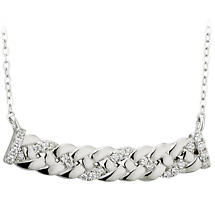 Irish Necklace - Sterling Silver Crystal Celtic Knot Necklet