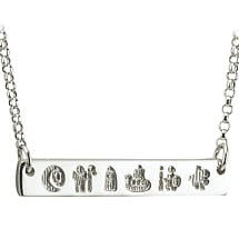 Irish Necklace - Sterling Silver History of Ireland Necklet