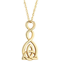Irish Necklace | 9k Gold Celtic Twist Trinity Knot Pendant