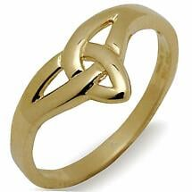 Irish Ring - 10k Yellow Gold Ladies Trinity Knot Celtic Band