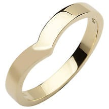 Irish Wedding Band - 10k Yellow Gold Ladies Wishbone Ring