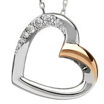 Irish Necklace | Real Irish Gold & Sterling Silver Heart Pendant by House of Lor