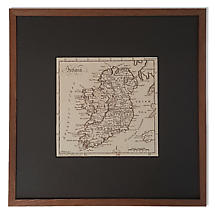 Framed Map of Ireland Art Print