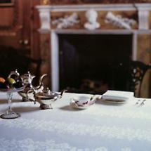 Irish Linen Tablecloth - 72 inch x 90 inch 100% Linen Damask Irish Tablecloth