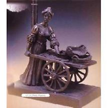 Rynhart Bronze Lamp - Molly Malone Lamp by Jeanne Rynhart
