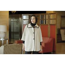 Irish Wool Cape - Ladies Trimmed Cape Wool & Cashmere by Jimmy Hourihan