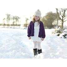 Wool Cardigan Sweater - Child's Merino Wool Aran Cardigan