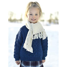 Child's Merino Wool Aran Crew Sweater