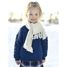 Child's Merino Wool Aran Crew Sweater