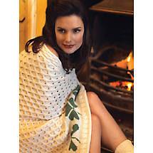Aran Wool Shamrock Blanket