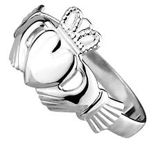 Claddagh Ring - Ladies Sterling Silver Traditional Claddagh