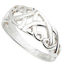 Celtic Ring - Sterling Silver Celtic Split Shank