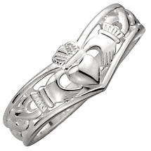 Claddagh Ring - Ladies Sterling Silver Celtic Claddagh Wishbone