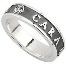 Irish Ring - Ladies Oxidized Sterling Silver Mo Anam Cara Ring