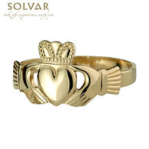 Claddagh Ring - Men's 10k Gold Claddagh Ring