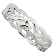 Celtic Ring - Ladies Sterling Silver Celtic Knot Band