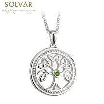 Celtic Pendant Sterling Silver Tree Of Life Trinity Knot With Chain