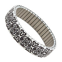 Irish Bracelet - Celtic & Trinity Knot Stretch Bracelet