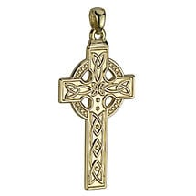 Celtic Pendant - 14k Gold Large Celtic Cross Pendant without Chain