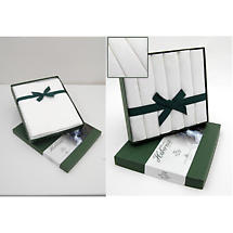 Irish Linen Table Set - Irish Rose Hibernia Collection Tablecloth 55 inch x 84 inch Box of 6 20 x 20 inch Napkins
