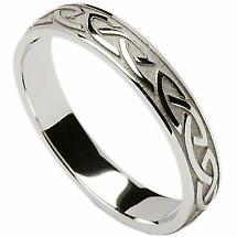 Irish Wedding Ring - Celtic Knotwork Mens Wedding Band