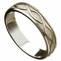 Irish Wedding Ring - Celtic Twist Ladies Wedding Band