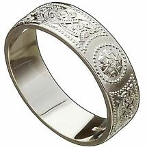 Irish Wedding Ring - Celtic Warrior Ladies Wedding Band