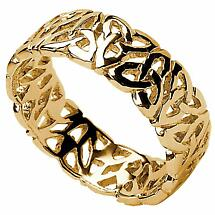 Trinity Knot Ring - Ladies Trinity Knot Filigree Irish Wedding Ring