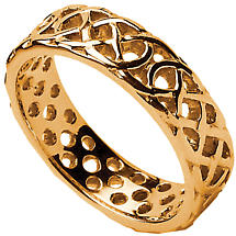 Celtic Ring - Men's Pierced Celtic Wedding Ring
