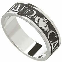 "Irish Rings - Men's Sterling Silver Mo Anam Cara Ring ""My Soul Mate"" Ring"