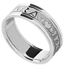 Mo Anam Cara Ring - Ladies White Gold Mo Anam Cara 'My Soul Mate' Irish Wedding Ring