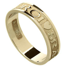 Irish Ring - Ladies Gra Geal Mo Chroi 'Love of my heart' Irish Wedding Ring