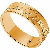 claddagh ring ladies diamond set claddagh wedding band - Celtic Wedding Ring Sets