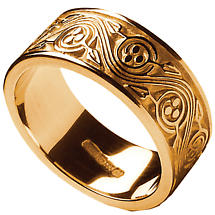 Irish Ring - Men's Triskele Weave Irish Wedding Ring