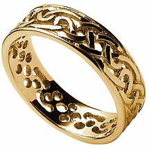 Celtic Ring - Men's Filigree Celtic Wedding Band