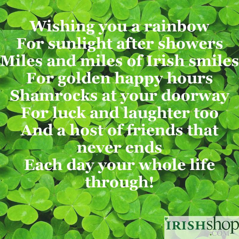 Irish blessings at irishshop wishing you a rainbow m4hsunfo