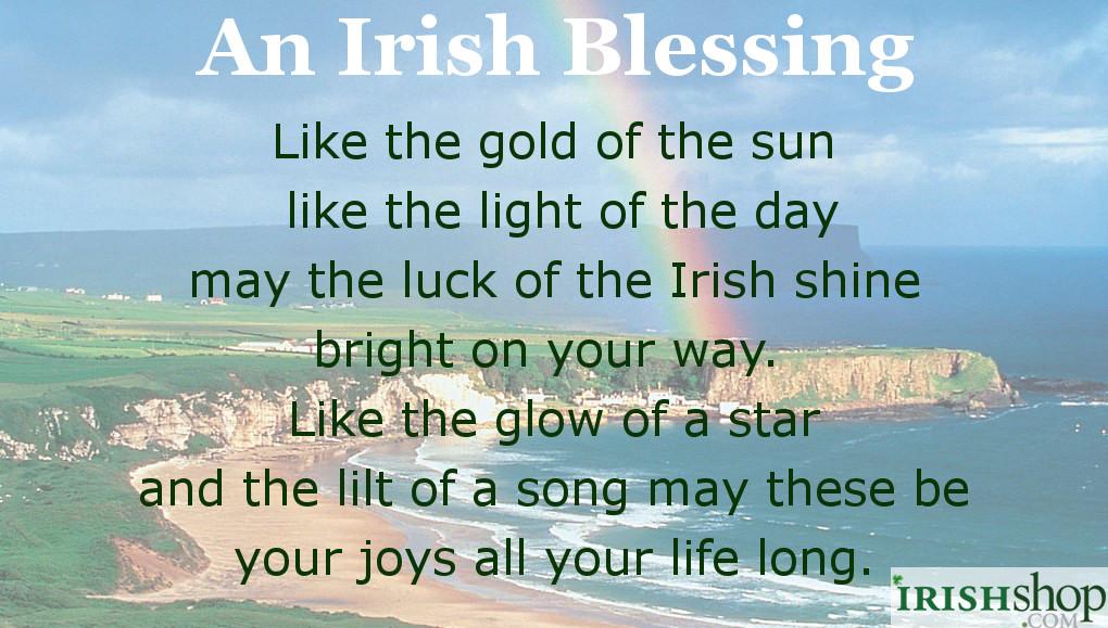 An Irish Blessing - Like the gold of the sun