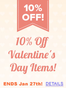 10% off Valentines Items!