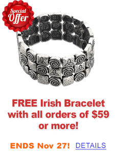 FREE Standard Shipping on Irish Jewelry over $99!