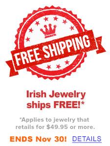 Irish Jewelry ships FREE!