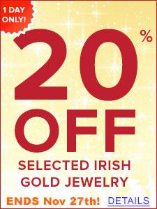FREE Standard Shipping on Irish Jewelry over $99!